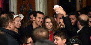 Esad çiftinden Şam'da kilise ziyareti