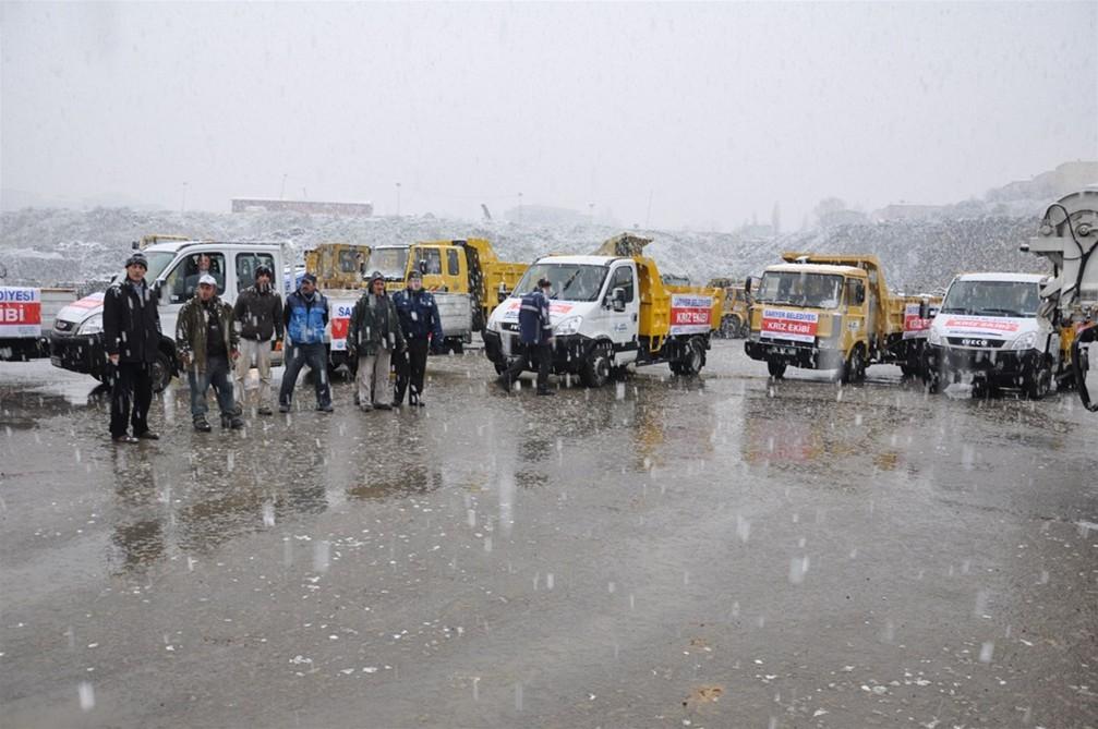 Sarıyer Belediyesinden kar uyarısı.