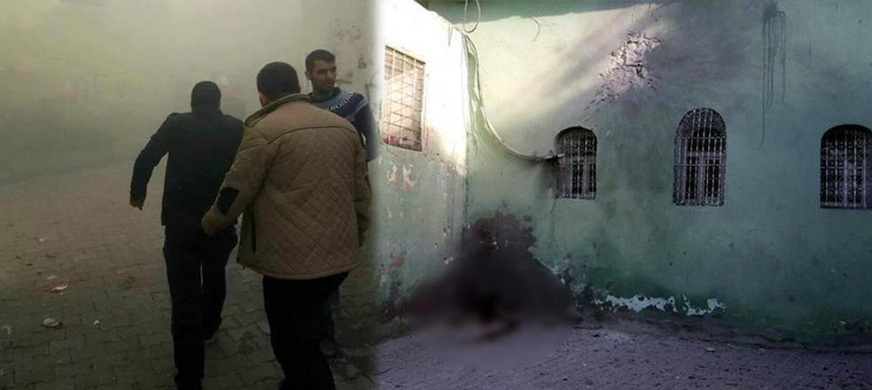 Cizre'de cami bahçesi isabet aldı: 1 çocuk öldü, 2'si yaralı