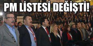 CHP PM kesin listesi.
