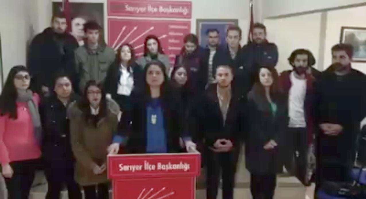 CHP Sarıyer Gençlik'ten Kınama.