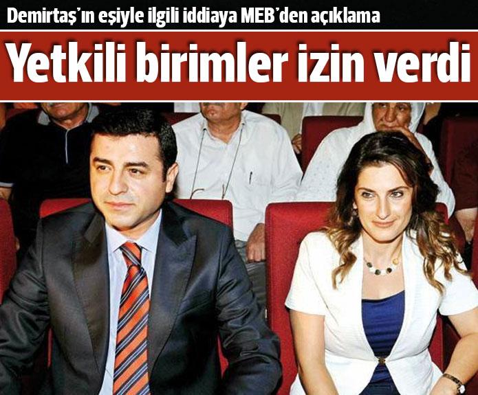 MEB'den Selahattin Demirtaş'ın eşiyle ilgili açıklama geldi