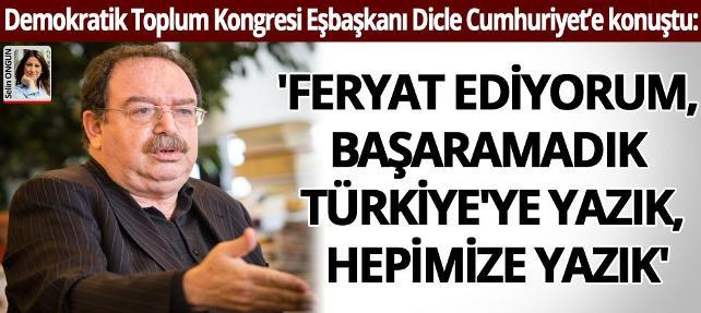 'Feryat ediyorum, başaramadık Türkiye'ye yazık, hepimize yazık…