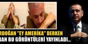 """Erdoğan """"Ey Amerika"""" derken İran bu görüntüleri yayınladı"""