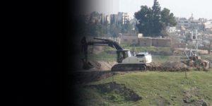 Asker Nusaybin'de hendek kazıyor
