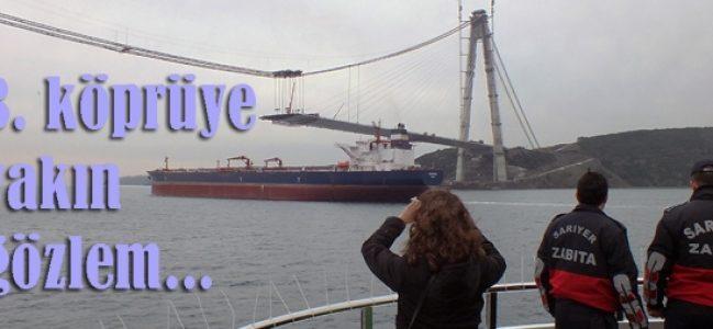 3. boğaz köprüsüne tekneden bakış