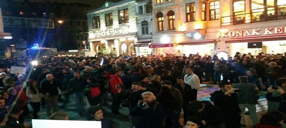 İstanbul Taksim'de Ceraattepe eylemine polis engeli