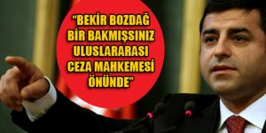 Demirtaş'tan Bozdağ için flaş sözler