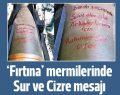Suriye'ye atılan mermilerde Sur ve Cizre mesajı