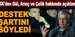 PKK'den Gül, Arınç ve Çelik hakkında açıklama