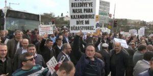 Servisçilerden İBB'ye tabutlu protesto