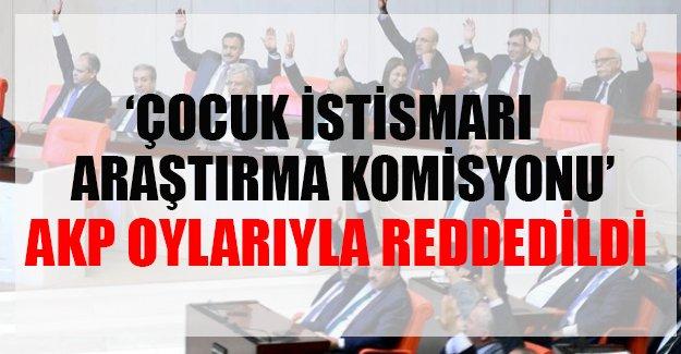 AKP Çocuk İstismarı komisyonunu istemedi!