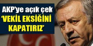 MHP'den AKP'ye büyük destek