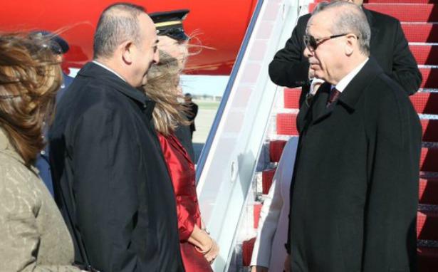 Erdoğan'ı ABD'de Türkiye Dışişleri Bakanı karşıladı