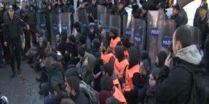 Taksim'deki Ankara eylemine polis müdahalesi