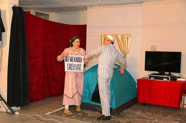 Kadına yönelik şiddet tiyatroyla anlatıldı