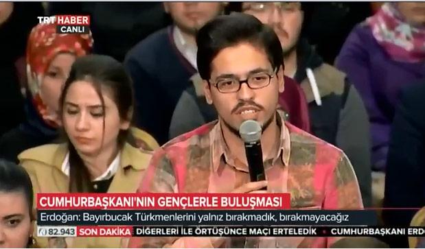 erdoğan Erdoğan'a soru soran o gençler bakın kim çıktı m C3 BCcahis inan C3 A7 2