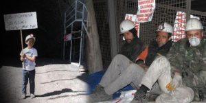 220 madencinin açlık grevi 5. gününde