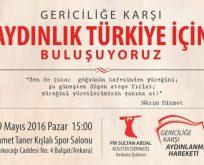 Ankara'da gericiliğe karşı büyük buluşma