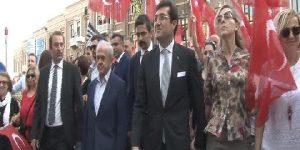 Beşiktaş'ta bağımsızlık yürüyüşü