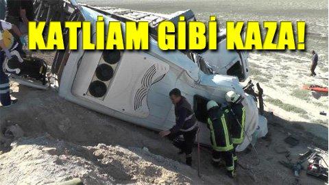 Konya'da TIR ile minibüs çarpıştı: 7 ölü