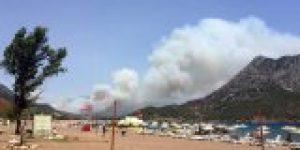 Adrasan yanıyor, Olimpos tahliye ediliyor