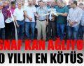 Antalya esnafından yazar kasalı eylem
