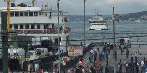 İstanbul'da vapur kazası: Araçlar mahsur