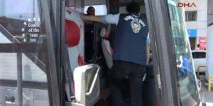 Polis 'o' otobüs için alarma geçti