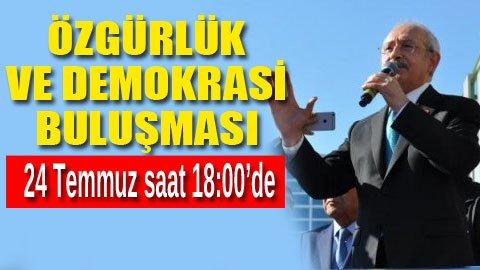CHP'liler demokrasi için buluşuyor!