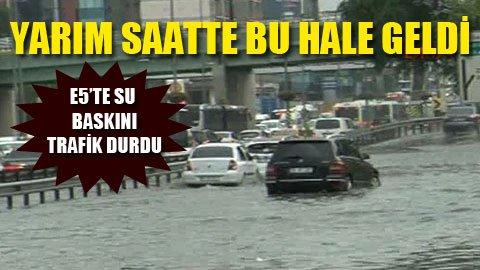 İstanbul'da yağmur sel oldu