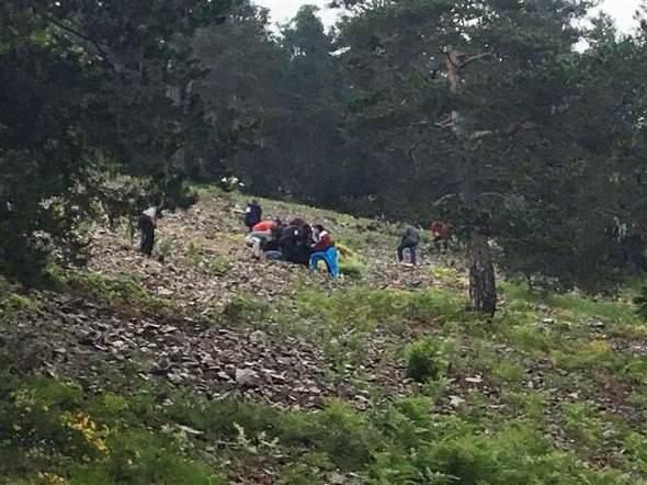 Giresun'un Alucra ilçesinde askeri helikopter düştü.