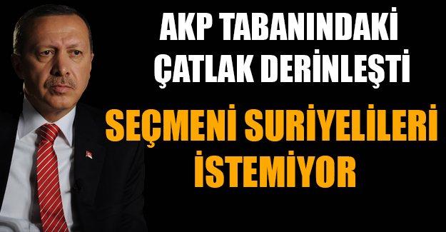 AKP seçmeni istemiyor.