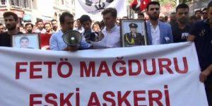 Mağdur askeri öğrenciler eylem yaptı