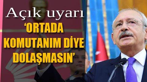 CHP liderinden 'Başkomutanlık' çıkışı