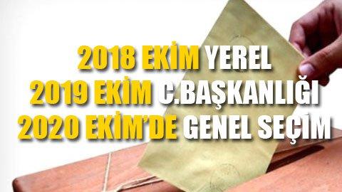 AKP'den 3 yılda 3 seçim önerisi