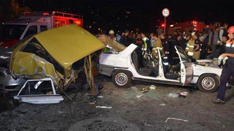 Feci kaza: 1 ölü, 2 polis yaralı