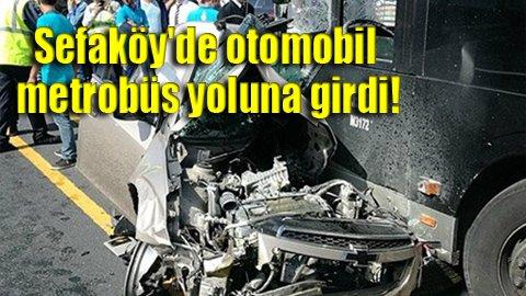 Metrobüs yolunda feci kaza: 1 ölü!