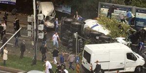 Maslak'ta korkunç kaza