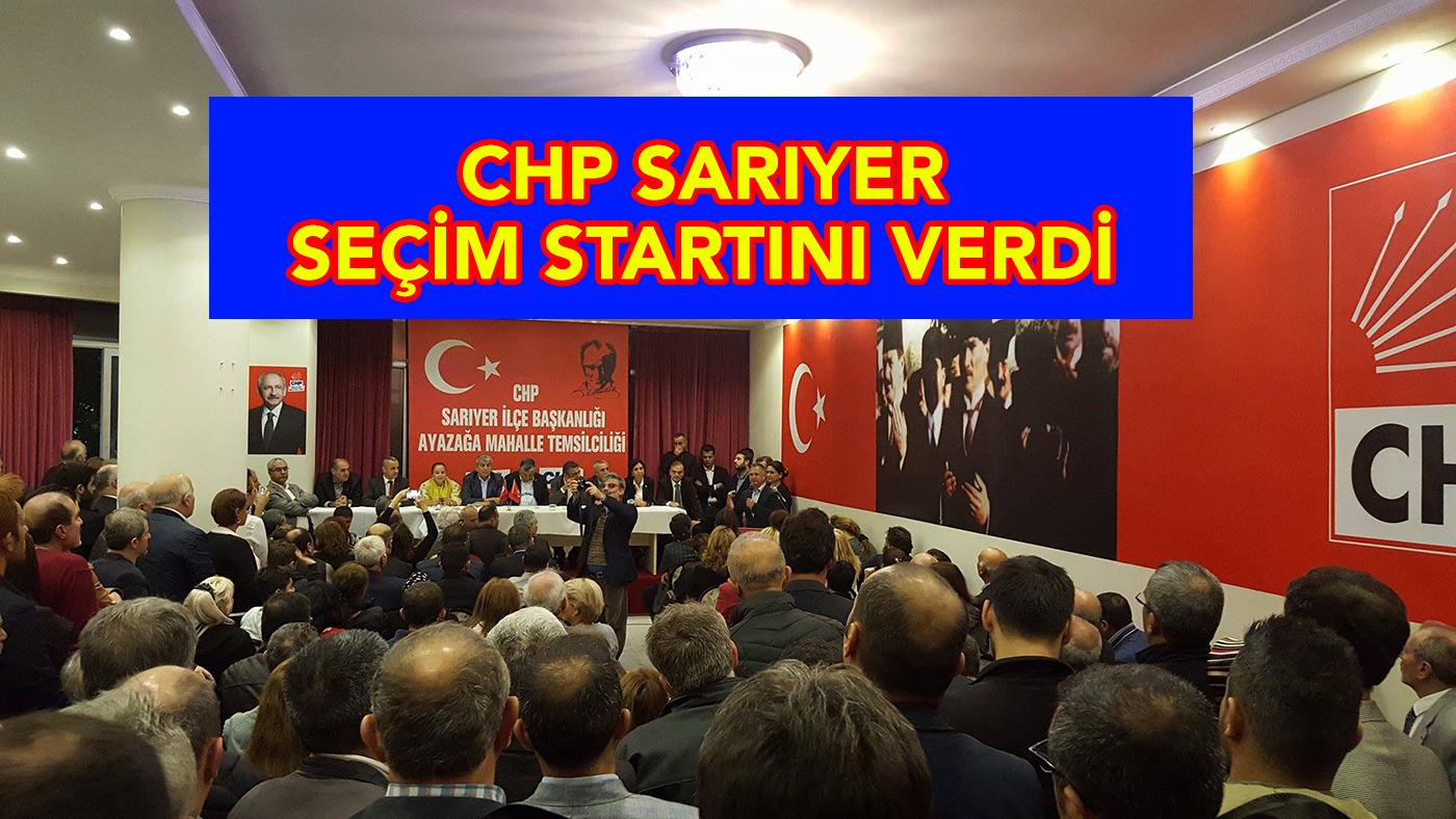 CHP seçim startını Ayazağa'dan verdi.