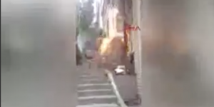 Beşiktaş'da doğal gaz borusu patladı!