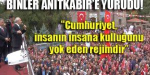 CHP lideri: Laf edenler Cumhuriyet'e…