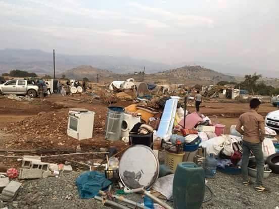 Şırnak'ta evleri yıkılan halkın çadırları sökülüyor