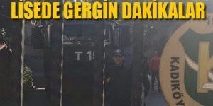 Kadıköy Anadolu Lisesi'ne TOMA girdi!