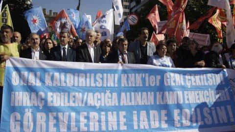 KESK Ankara'da: Ne darbe ne OHAL