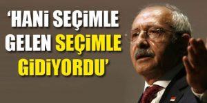 CHP lideri, Erdoğan'ı kendi sözüyle vurdu