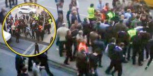 İstanbul'da havalimanı taksicileri otobüs şoförlerine saldırdı