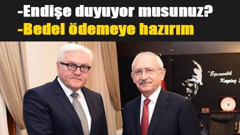 Alman bakan, Kılıçdaroğlu'na sordu