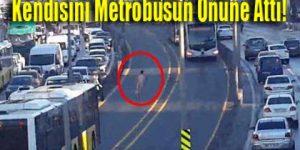 Metrobüs yolunda çıplak adam şoku!