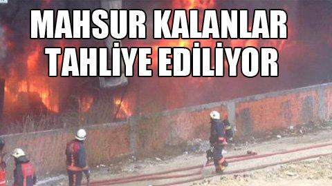 İstanbul'da yangın: Mahsur kalanlar var